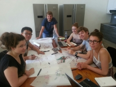 <p>Team 3 with Giulio Pucci from University of Pisa<br> Photo Credit: Wladek Fuchs</p>