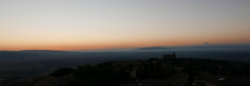 <p>A view from the window of the Volterra International Residential College - sunset in Volterra <br> Photo Credit: Jan Slyk</p>