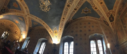 <p>The ceiling of the Great Council Room in the Palazzo dei Priori<br> Photo Credit: Aleksandra Gwardiak</p>