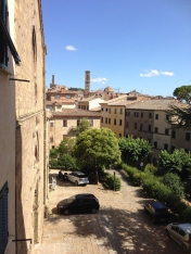 <p>A view from the window of the Volterra International Residential College - towards the center of the city<br> Photo Credit: Katherine Stowell</p>
