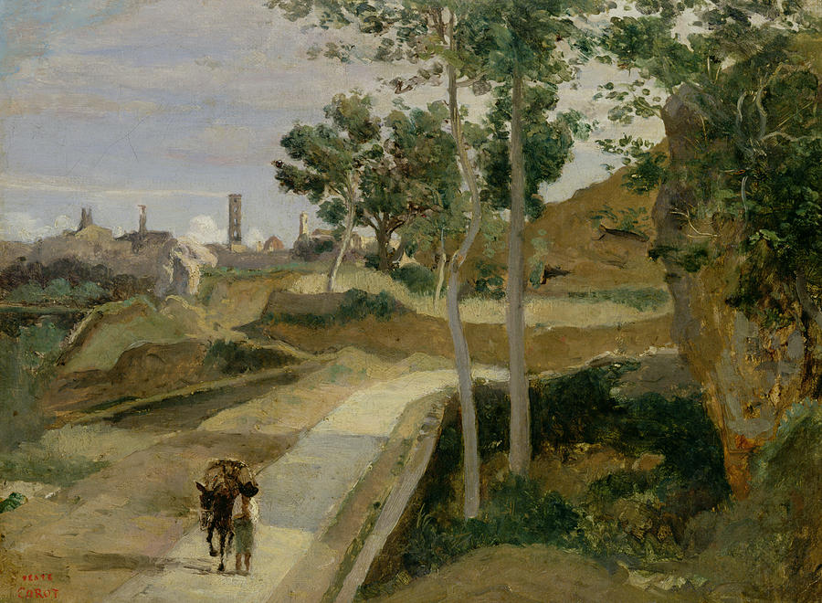 Corot_road_from_volterra_1834_4