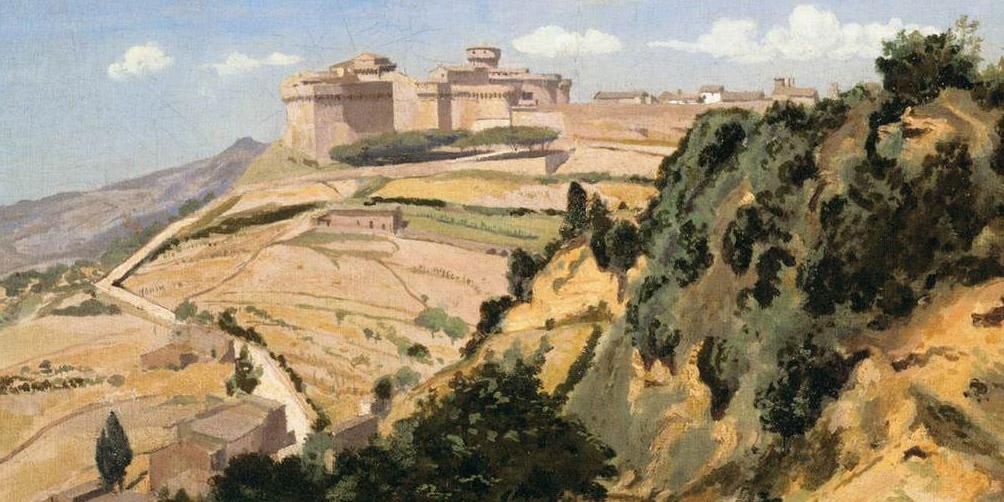 Jean-Baptiste-Camille Corot - Volterra, the Citadel