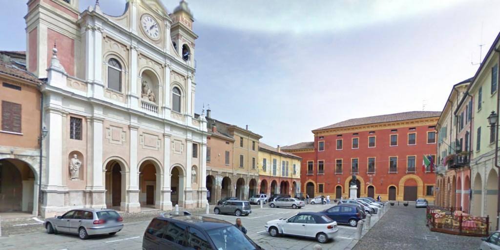 Piazza Giuseppe Mazzini in Guastalla (Reggio Emila).