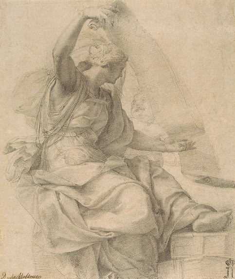 A drawing of Sybil by Daniele da Volterra 1540 (currently Hermitage, St. petersburg)