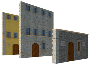 A visual representation of how the facade of Palazzo de Campani may have changed over the years.
