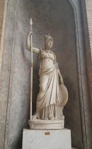 Statue of Athena/Minerva the Goddess of Wisdom.