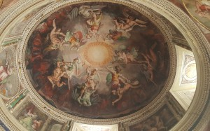 Mural on the Ceiling in the Vatican Museum,