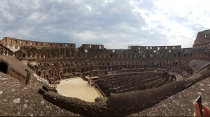 Upper deck of the Colosseum