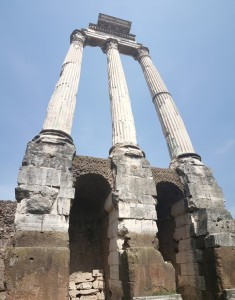 Ruins of the Temple of Castor and Pollux.
