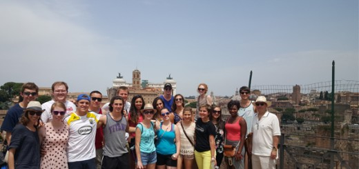 UDM Students on top of Palatine Hill.