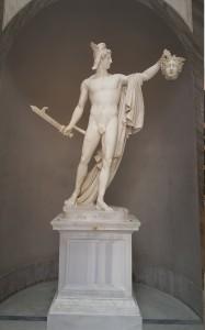 The demi-god Hercules/Hercales holding medusa's head