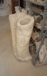 A Limestone Sculpture.