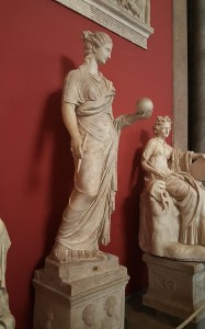 Sculptures of the Muses, Goddess of Music.