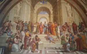Raphael's School of Athens Mural.