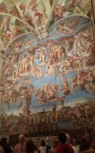 Michelangelo's mural Last Judgement, in the Sistine Chapel.
