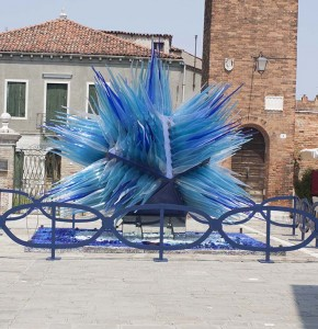 Glass sculpture on the island of Morano: the island is famous for glass blowing