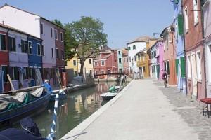Multicolored houses on the island of Borano