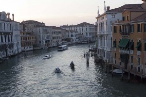 """One of the main canals or what could be called a """"highway"""" in Venice"""