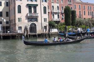 The famous Venice gondolas