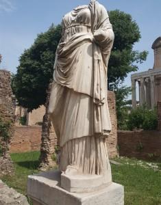 A Statue of a Roman Vestal Virgin