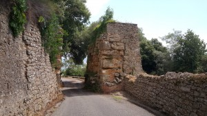 The remains of an ancient Etruscan Gate