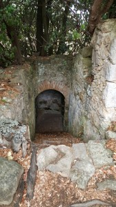 Entrance to one of the tombs.