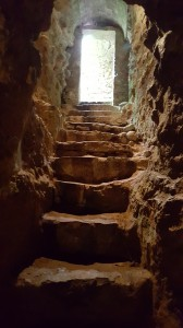 Stairs leading out of the tomb.