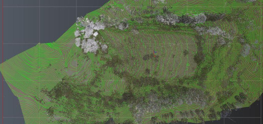 Combined scan and drone data for the site of the recently discovered Roman Amphitheater