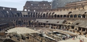 The stunning arena of the colosseum.