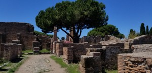 The ancient streets of Ostia.