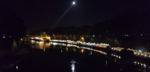 The Tiber at night.